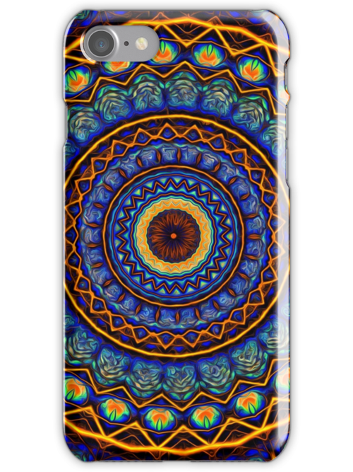 Kaleidoscope 4 abstract stained glass mandala pattern by Leah McNeir