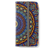 Kaleidoscope 4 abstract stained glass mandala pattern iPhone Wallet/Case/Skin