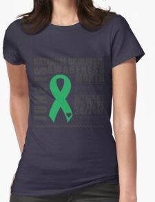June - Scoliosis Awareness Month Womens Fitted T-Shirt