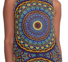 Kaleidoscope 4 abstract stained glass mandala pattern Contrast Tank