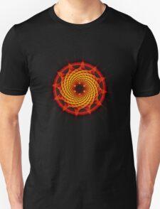 Merkaba Spiral Mandala Red   ( Fractal Geometry ) Unisex T-Shirt