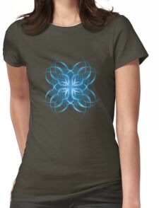 Tribal Ice - Fractal Art Design Womens Fitted T-Shirt