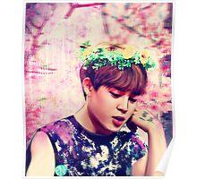 Jimin flowers Poster