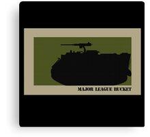 Major League Bucket Canvas Print