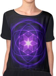 Energetic Geometry - Indigo Prayers Chiffon Top