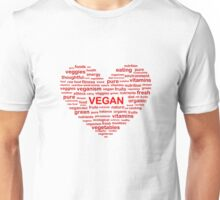 Heart Word Cloud Vegan Unisex T-Shirt