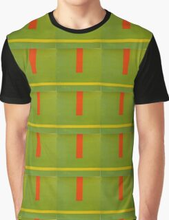 Contrast Line Green Graphic T-Shirt