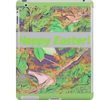 Bird scene at Easter iPad Case/Skin