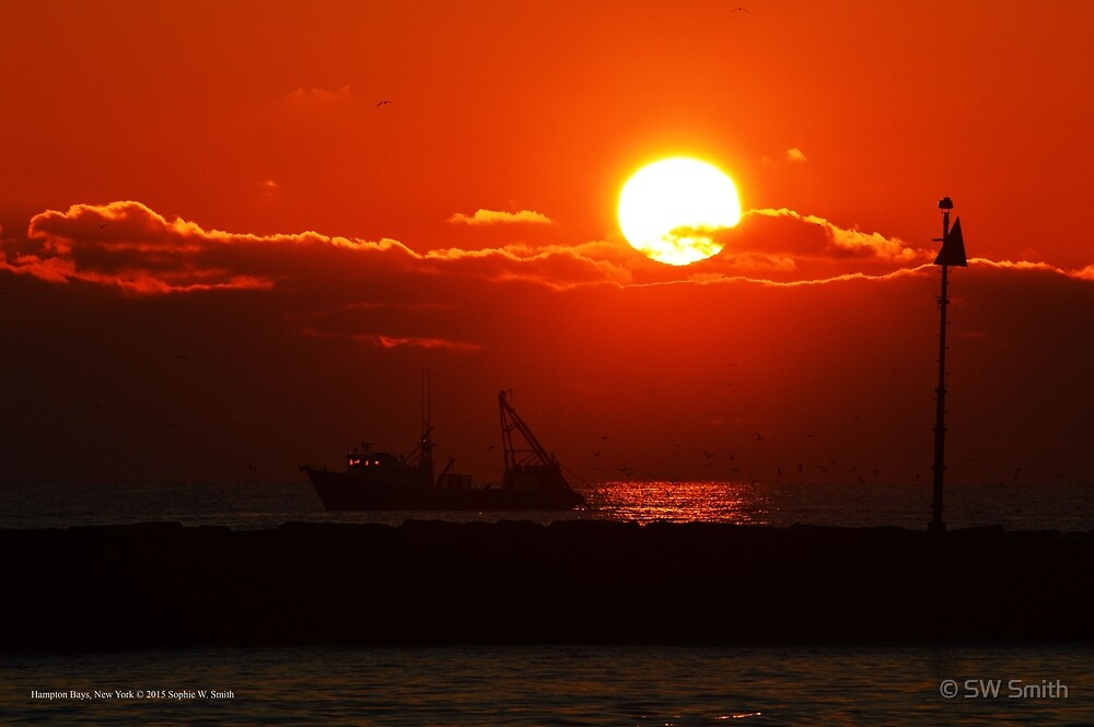 Fishing Under The Morning Sun | Hampton Bays, New York by © Sophie W. Smith