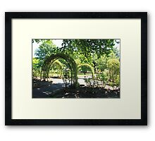 Arches in the Park, Lithgow Framed Print