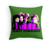 Best Friends - Never Say Die Throw Pillow