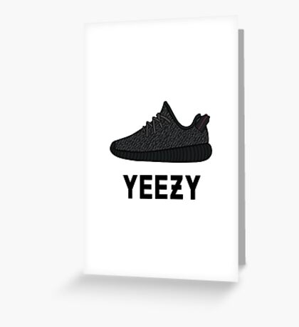 Yeezy Boost 350 Pirate Black Greeting Card