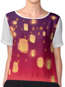Floating Lanterns graphic dress and graphic t-shirt Chiffon Top