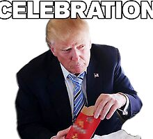 Trump Celebration: You want flies with that? by Michael Roman