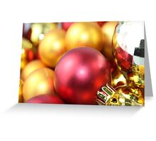 Sea of gold and red baubles Greeting Card
