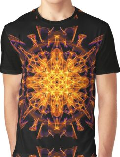 Energetic Geometry - Abstract Solar Power Symbol Graphic T-Shirt