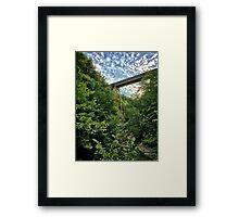 Watkins Glen Railroad Bridge Framed Print