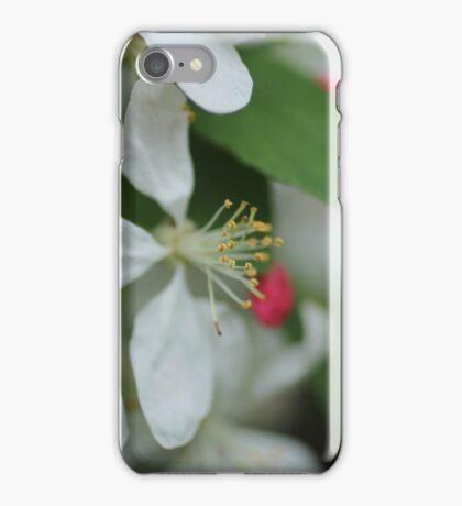 White Little Flowers iPhone Case/Skin