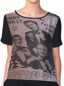 Buddy Holly and The Fabulous Crickets, close up Chiffon Top