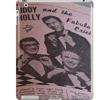 Buddy Holly and The Fabulous Crickets, close up iPad Case/Skin