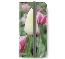 Sea of Purple and one White Tulip iPhone Wallet/Case/Skin
