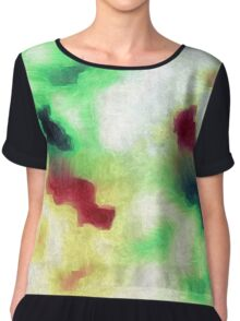 Colorful Camouflage  Chiffon Top