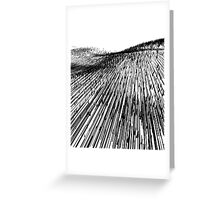 Abstract Field (black) Greeting Card