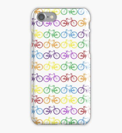 rainbow bicycles iPhone Case/Skin