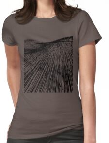 Abstract Field (black) Womens Fitted T-Shirt