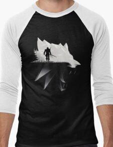 White Wolf Men's Baseball ¾ T-Shirt