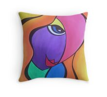 Lady in pink! Throw Pillow