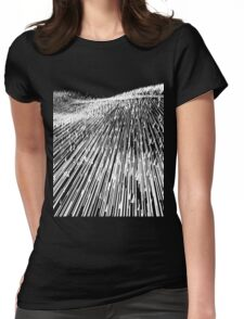 Abstract Field (white) Womens Fitted T-Shirt