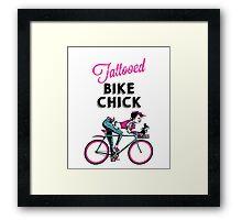 Tattooed Bike Chick Framed Print