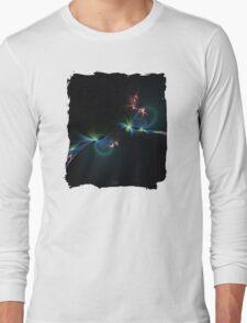 Fey Lights Fractal in Aurora 01 Long Sleeve T-Shirt