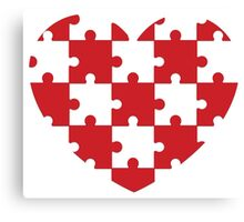 Puzzled Heart Canvas Print