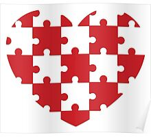 Puzzled Heart Poster