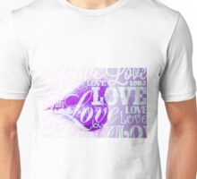 Love Lips purple Unisex T-Shirt