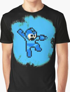 Mega Man Jumps and Shoots Graphic T-Shirt