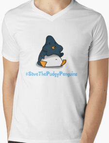 Pudgy Penguin Mens V-Neck T-Shirt