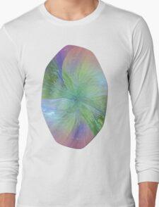 Mystic Warmth Abstract Fractal Long Sleeve T-Shirt