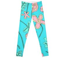 leaves n flowers Leggings