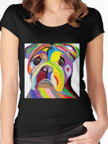 BULLDOG Women's Fitted Scoop T-Shirt
