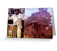 Blues Train Greeting Card