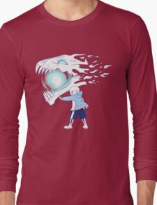 Undertale - Sans and Gasterblaster Long Sleeve T-Shirt