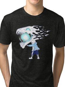Undertale - Sans and Gasterblaster Tri-blend T-Shirt