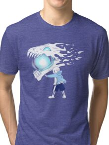Undertale - Sans and Gasterblaster Tri-blend T-Shirt