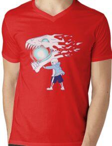 Undertale - Sans and Gasterblaster Mens V-Neck T-Shirt
