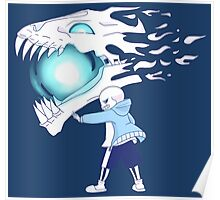 Undertale - Sans and Gasterblaster Poster