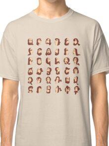 ARMENIAN BEARD ALPHABET ILLUSTRATIVE TYPOGRAPHY Classic T-Shirt