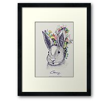 rabbit (flowers) Framed Print